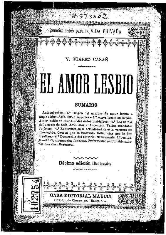19. Dr. V. Suárez Casañ. El amor lesbio. (Barcelona, 1920).pdf