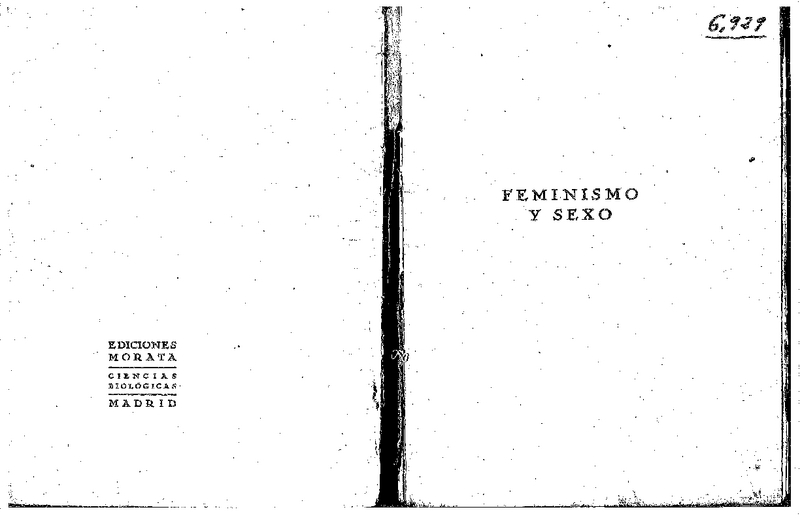 1. Aza, Vital. Feminismo y sexo. Ed. Javier Morata. (Madrid) Ediciones Morata, 1928.pdf