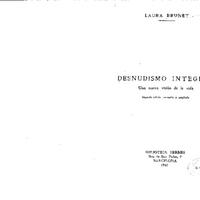 Desnudismo Integral. Una nueva visión de la vida